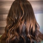 brown colored hair
